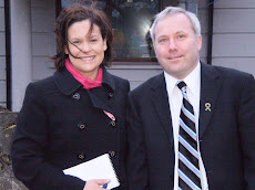 Local election candidate for Balbriggan and District Fergus Byrne with Mary -Lou McDonald MEP