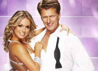 Andrew Castle and his partner on Strictly Come Dancing