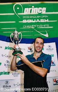 John winning the first English Open in 2003