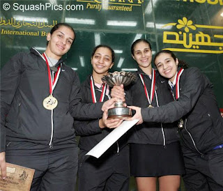 The victorious Egyptian team