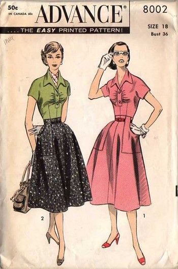 old sewing pattern Vintage Style Sewing Patterns