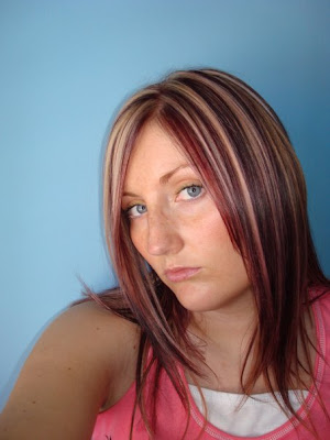 Photo of blond hair and brown streaks. Finalist - Blond Hair with Blonde