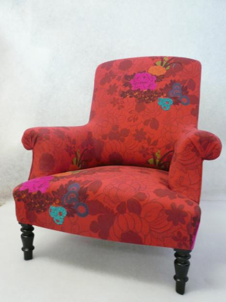 Rachel morrison fauteuil anglais d 39 poque napol on iii for Tissu ameublement kenzo