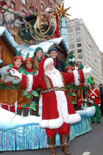 Santa Claus Arrives at the Thanksgiving Day Parade