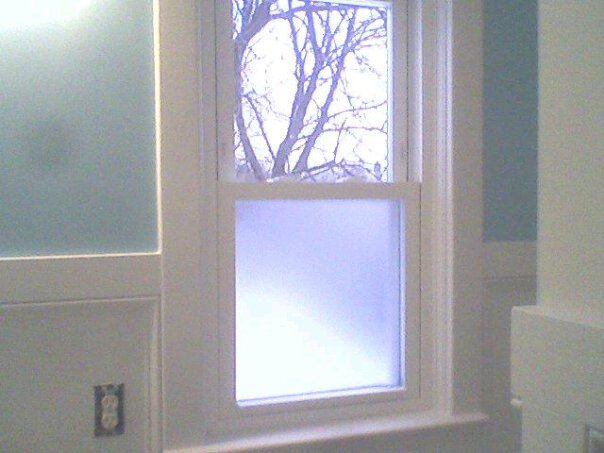 Beau Bathroom Frosted Window Film. As I Mentioned Early, The Placement Of My  Window Creates A Privacy Issue. You