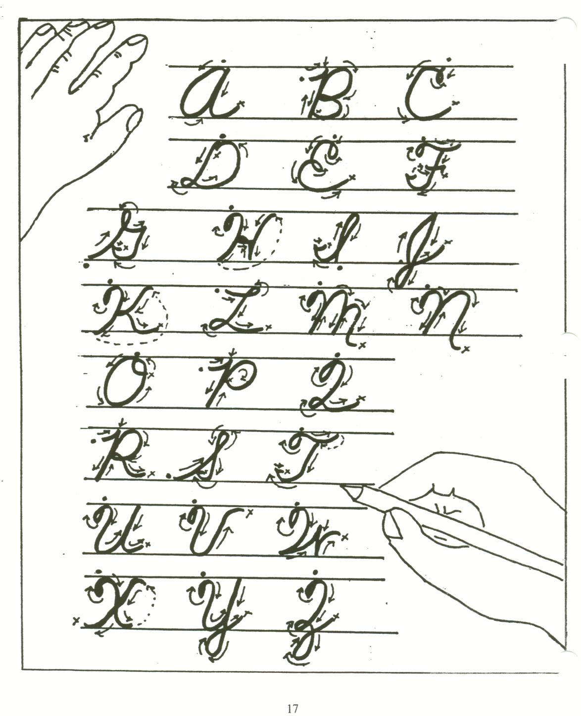 How to write in cursive step by step