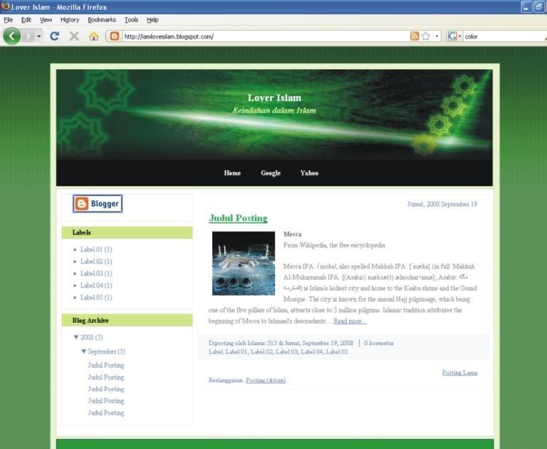 Fun Islamic: 313 Template Blogger   Download Template