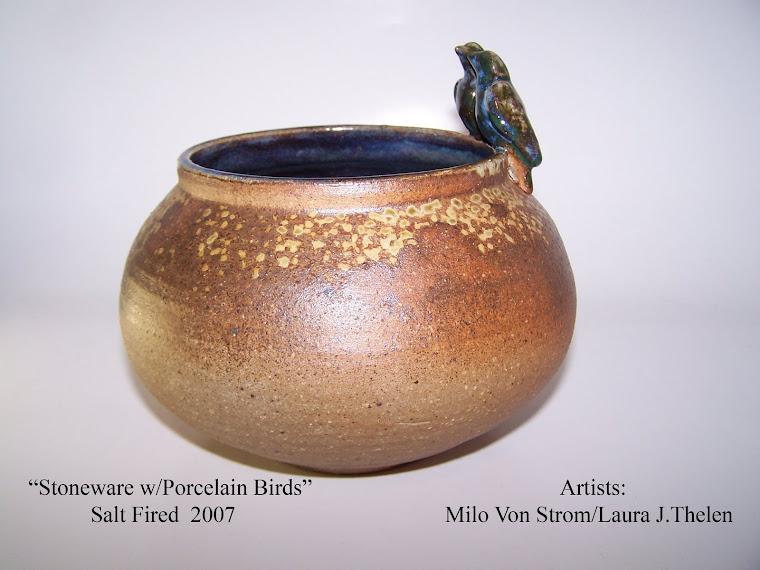 Stoneware w/Porcelain Birds