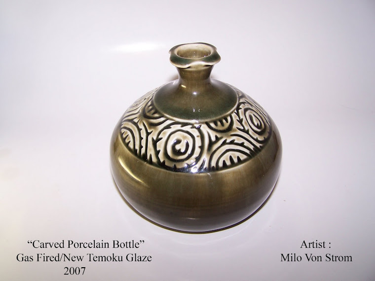 Carved Porcelain Bottle
