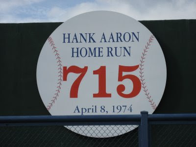 Monument to Hank Aaron's 715th