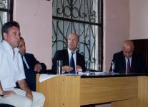 Estevao durante la conferencia de prensa por el impuestazo del Gas