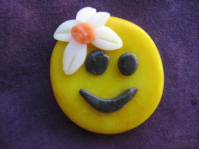 Polymer Clay Smiley Face Girl