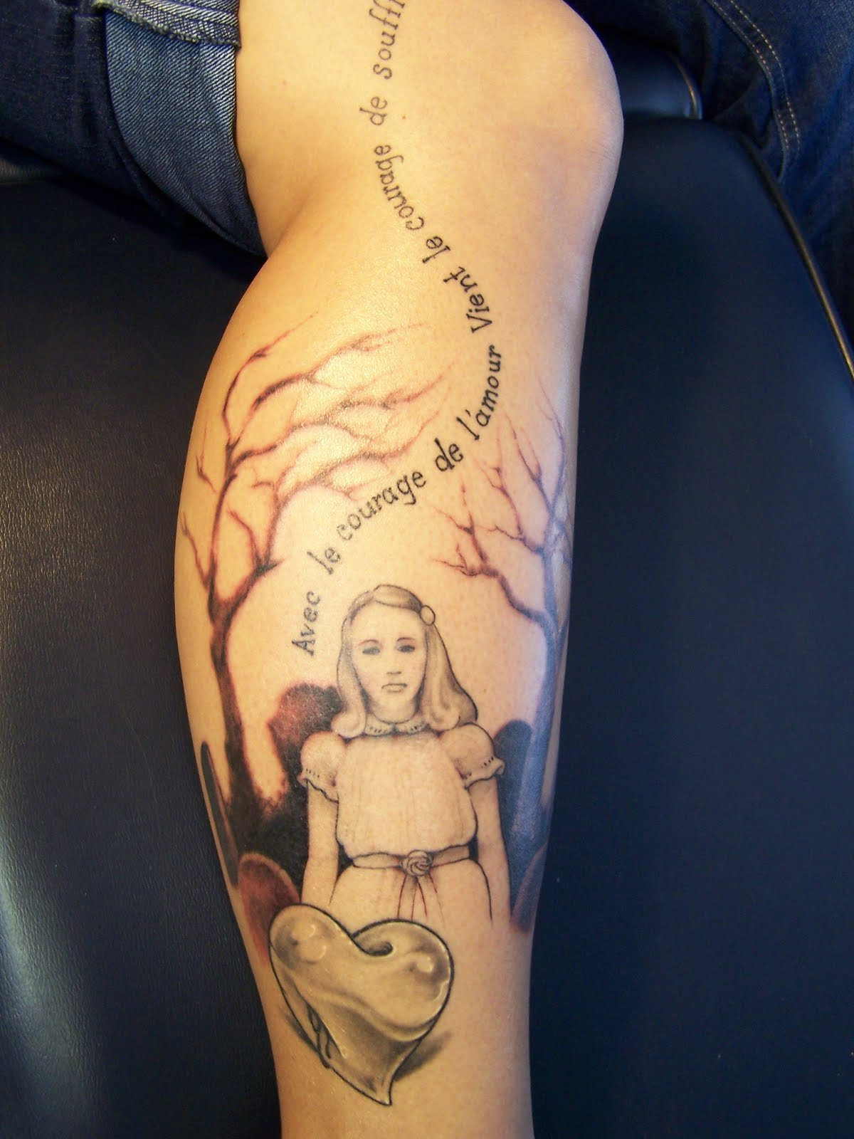 Artistic ink morbid tale for a mortuary girl for Tn tattoo laws