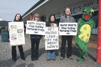 animal rights protestors in Sunderland
