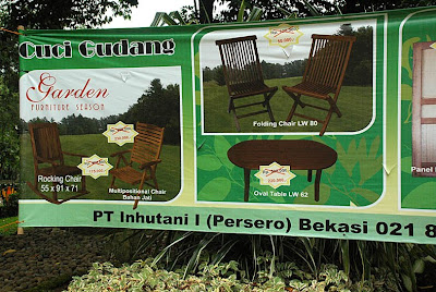 Inhutani I and Indonesian garden furniture