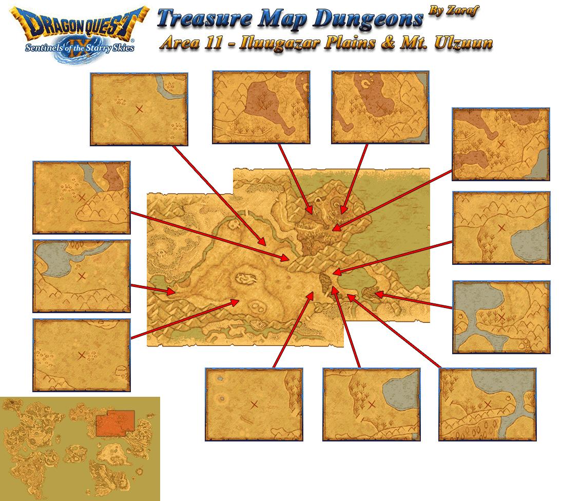 Dragon Quest 9 Grotto Maps: Iluugazar Plains And Mt. Ulzuun Grotto Maps