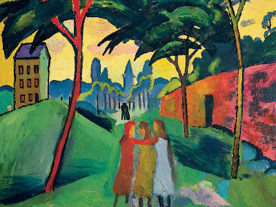 August Macke, Paysage avec trois jeunes filles