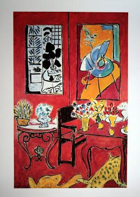 Henri Matisse -  interieur rouge 1948