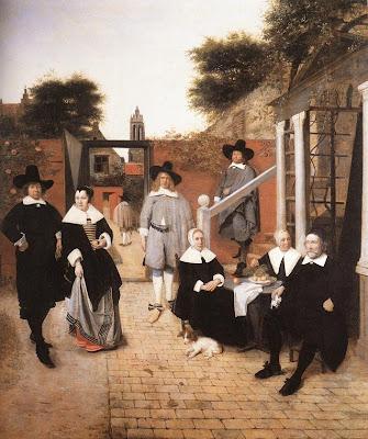 pieter de hooch - famille hollandaise