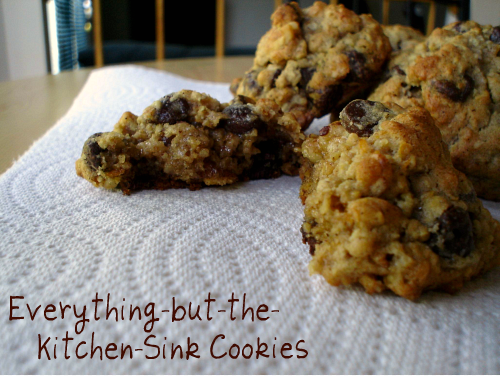 Monster Sweet Tooth: Everything-but-the-Kitchen-Sink Cookies