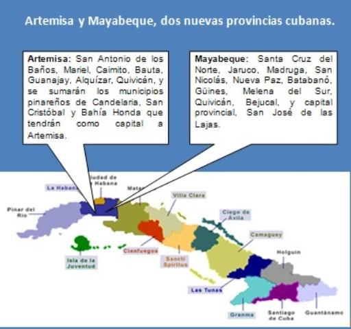 Interesante: Este año Cuba tiene 2 nuevas provincias. Artemisa+y+Mayabeque
