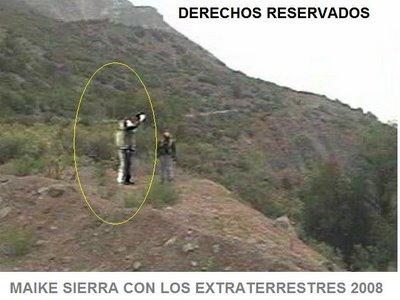 Seres extraterrestres vistos por camaras en Chile