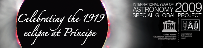 Celebrating the 1919 eclipse at Príncipe