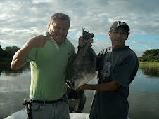 primera cachama pescada por nosotros en rio verde