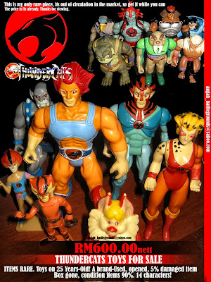 Thundercats  Collection on Movies And Series Collection  Thundercats Toys For Sale