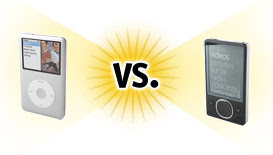 Apple iPod classic vs Microsoft Zune 80