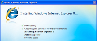 IE 8.1 installation process