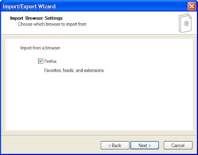 IE 8.1 firefox import