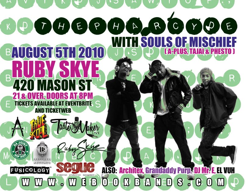 Segue Pharcyde Feat Souls Of Mischief Ruby Skye August 5th