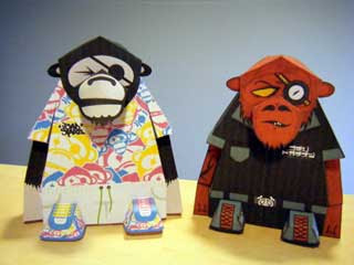 Badstarz Monkey Papercraft Update