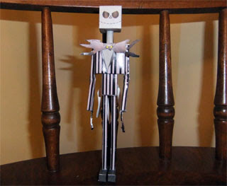 Jack Skellington Papercraft 2