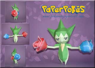 Pokemon Roselia Papercraft