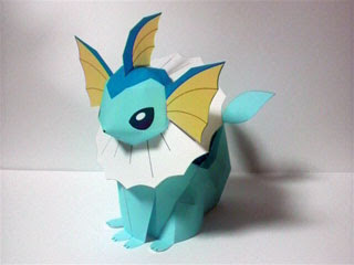 Pokemon Vaporeon Papercraft 2
