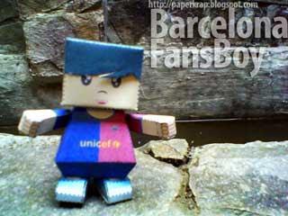 Barcelona Fanboy Papercraft