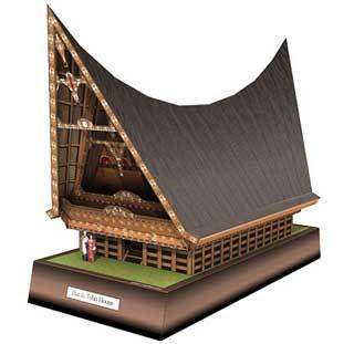 Toba Batak House Papercraft