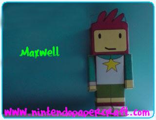 Scribblenauts Maxwell Papercraft