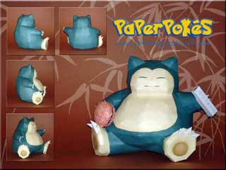 Pokemon Giant Snorlax Papercraft