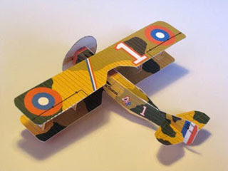SPAD XII Biplane Papercraft