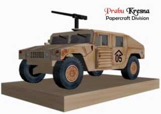 Humvee Papercraft
