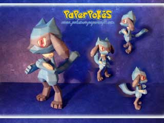 Pokemon Riolu Papercraft