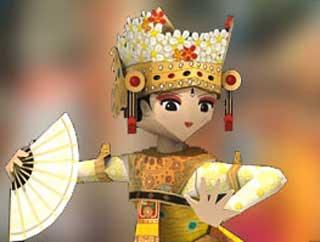 Balinese Legong Dancers Papercraft
