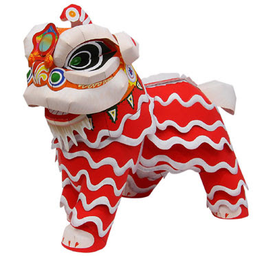 Lion Dance Papercraft