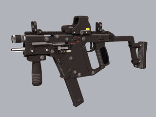 Kriss Super V Submachine Gun Papercraft