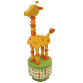Push Up Toy Giraffe Papercraft