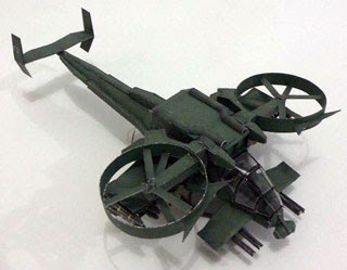 Avatar AT99 Scorpion Gunship Papercraft