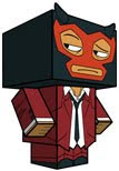 Red Demon Papercraft Lucha Libre